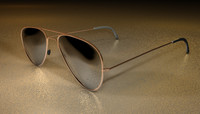 cinema4d gold aviator sunglasses