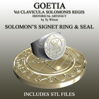 3d signet goetia seal model