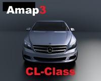 cl-class mercedes-benz 3d obj