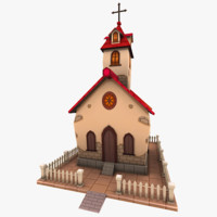 3d max toon church