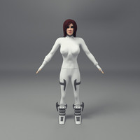 obj scifi female character