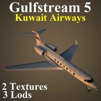 gulfstream 5 kac 3d max