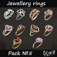 jewellery rings 3d model