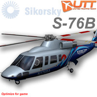 sikorsky s-76b aeromed 3d model