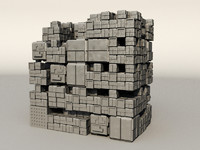 sci fi box building 3d model