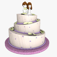 weeding cake 3d 3ds