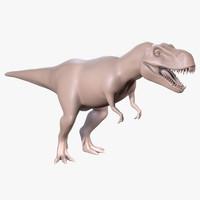trex rex 3d obj
