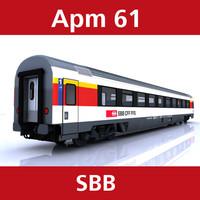 apm 61 passenger 3d model