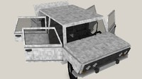 minecraft rig car v4 3d model