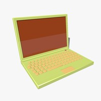 c4d cartoon laptop