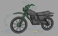 trial motorcycle 3d model