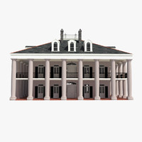 plantation house 3d 3ds