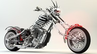 3d fictional motorcycle model