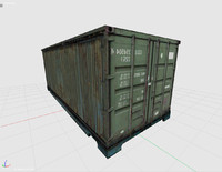 3dsmax shipping cargo container
