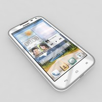 3d huawei ascend g610s white model