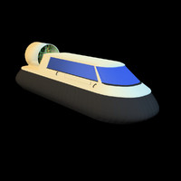 free hovercraft air-cushion vehicle 3d model
