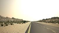 3d desert road