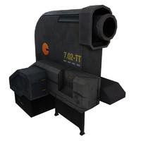 3d model turret sci fi