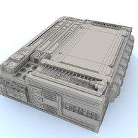 maya sci fi futuristic building