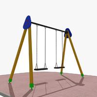 playground swing 3d