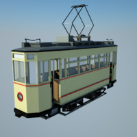 historic tram obj