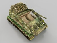 3d vehicle tank model