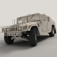3d model realistic hmmwv military humvee