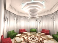 3d interior decoration