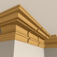 3ds max interior cornice molding
