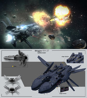 3d model battlecruiser wriggler kh-27