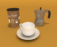 coffee set 3d model