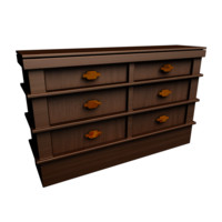 free traditional wooden drawers 3d model