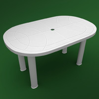 garden table 3d 3ds