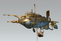 steampunk steam dieselpunk submarine max