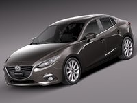 lightwave 2013 2014 sedan mazda 3