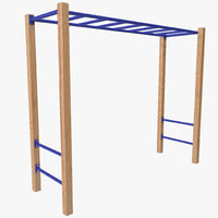 3d outdoor monkey bars model