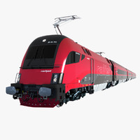 3d model railjet car locomotive