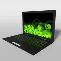 3d gaming laptop model