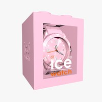 3d model of pink ice watch