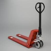 3d model pallet truck industrial