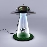 3d alien abduction lamp model