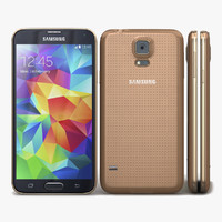samsung galaxy s5 gold 3d model