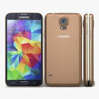 3d samsung galaxy s5 gold model