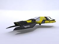 3d model racing ship