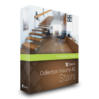 stairs house 3d max