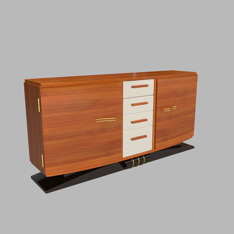 3d model sideboard art deco for Sideboard 3d