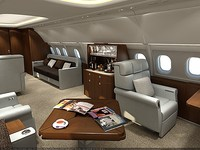 3d model airbus a318 luxury cabin