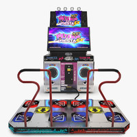 arcade dance machine 3d model