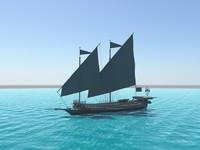 3d ottoman galley