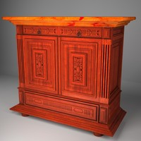 3d commode chest drawers
